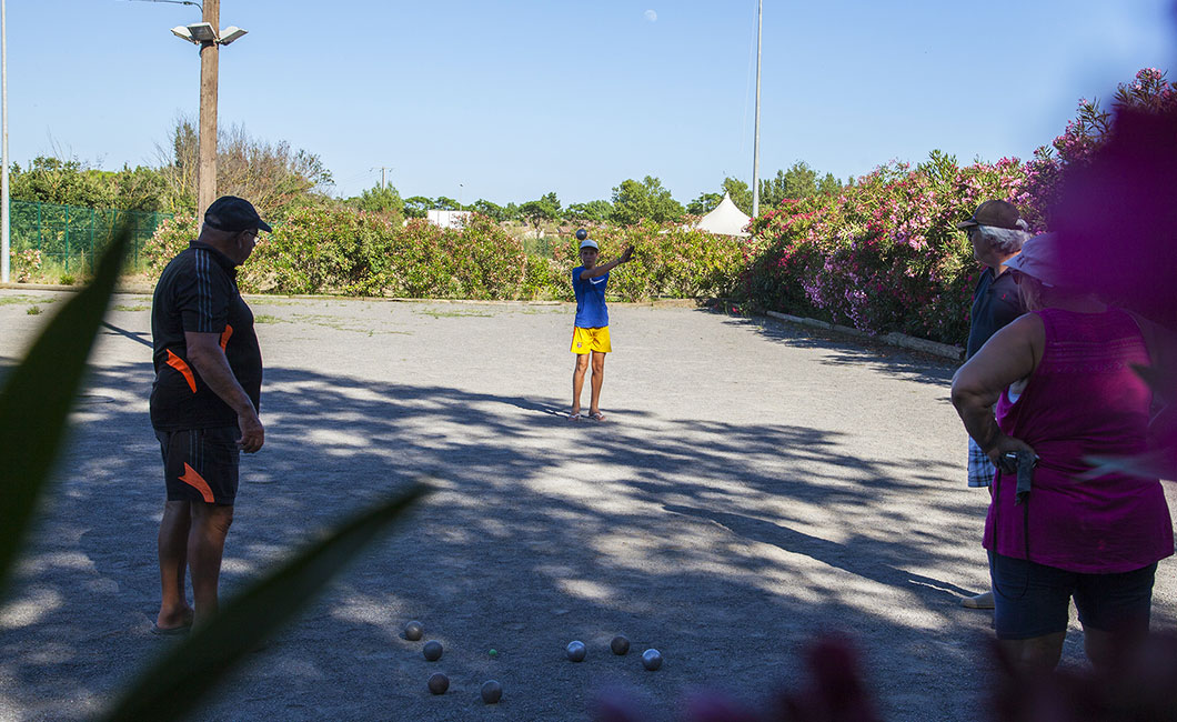 Boulodrome petanque-toernooien georganiseerd door het Domaine Sainte Cécile
