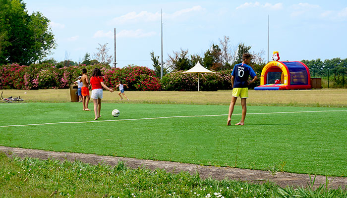 Sports area, football field and artificial turf basketball
