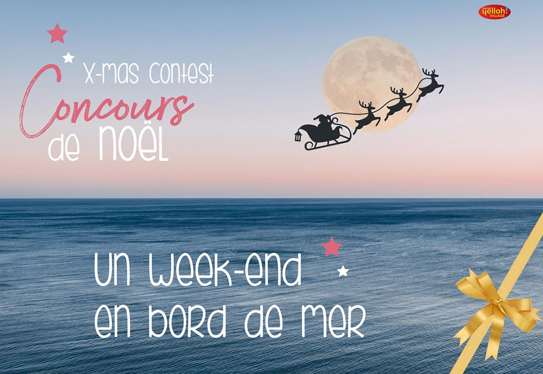 Facebook Christmas contest, Yelloh village domaine sainte Cécile, a stay in a cottage offered