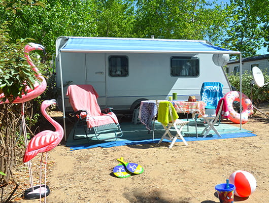 Site for campers in 4-star campsite Yelloh ! village by the sea domaine sainte Cécile