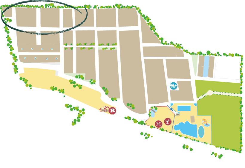 plan camping sainte Cécile bord de mer quartier mobil-home Lodge