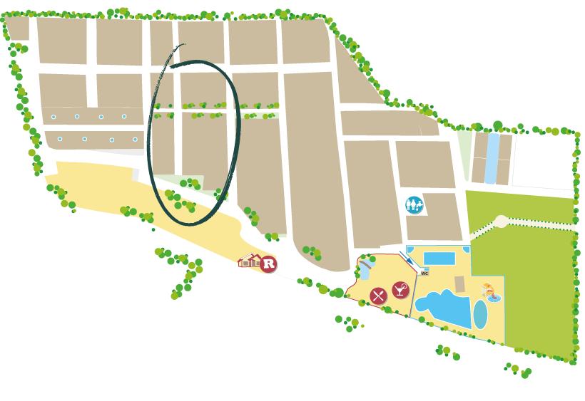 où se trouve le quartier flores dans le camping sainte cécile à vias plage ?