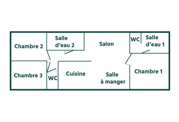 map pampa cottage 6 persons Domaine Sainte Cécile