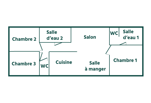 plan cottage Pampa Domaine sainte Cécile