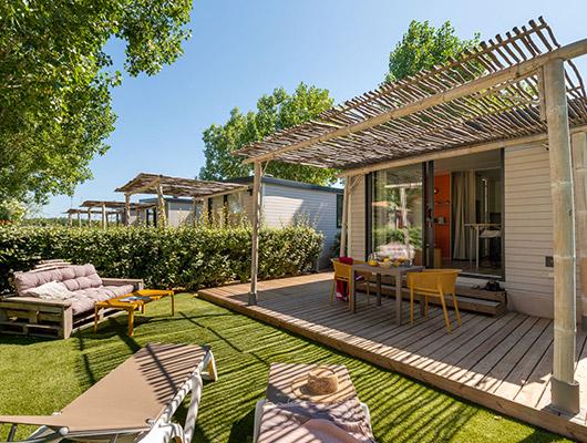 cottage style studio, chambre d'hôtel, pour deux personnes au camping sainte Cécile Vias Plage