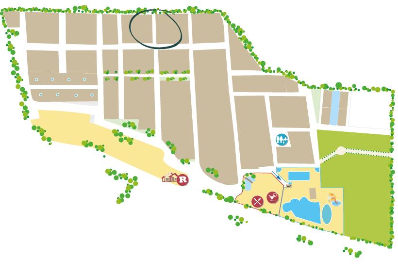 plan du nouveau quartier cocoon au Domaine Sainte Cécile à Vias Plage