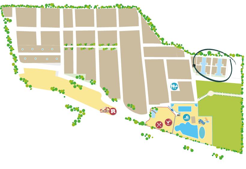 location d'exception en bord de lagon à vias plage
